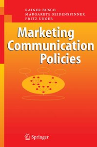 Marketing Communication Policies