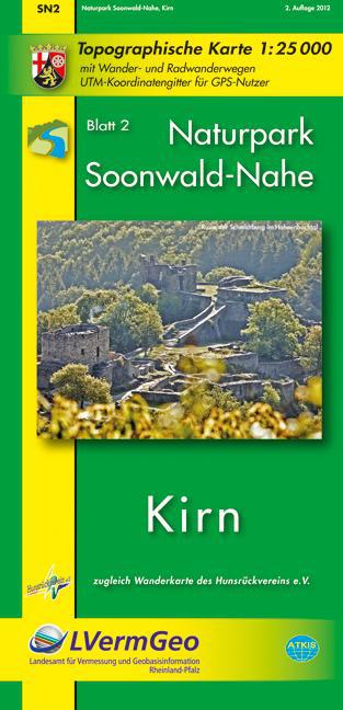 Naturpark Soonwald-Nahe Blatt 02. 1 : 25 000. Wanderkarte - zum Schließen ins Bild klicken