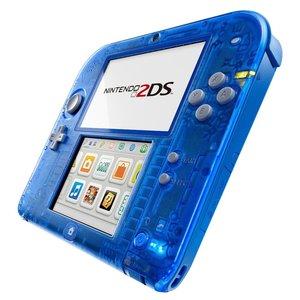 Nintendo 2DS Konsole - Transparent Blau