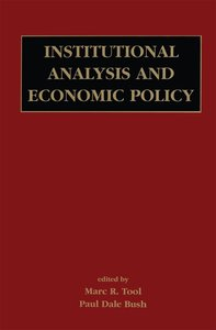 Institutional Analysis and Economic Policy