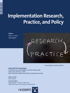 Implementation Research, Practice, and Policy