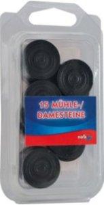 Noris 606151041 - Dame & Mühlesteine, Holz schwarz