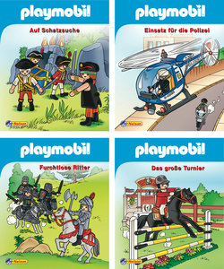 Nelson Mini-Bücher: 4er Playmobil 1-4