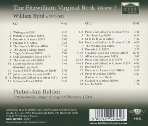 The Fitzwilliam Virginal Book Vol.2