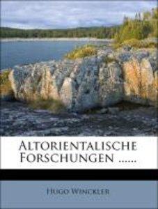 Altorientalische Forschungen ......