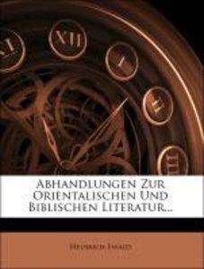 Abhandlungen zur Orientalischen und Biblischen Literatur, erster