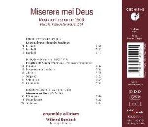 Miserere mei Deus-Musik zur Passion um 1500