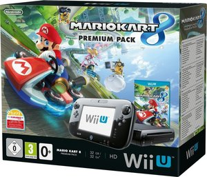 Nintendo Wii U Konsole Premium Pack (Black) inkl. Mario Kart 8