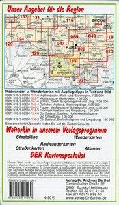Radwander- und Wanderkarte Bayrisches Vogtland Hof, Rehau und Um