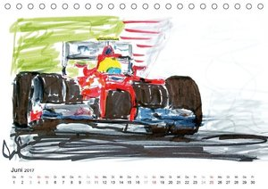 Illustrationen Formel 1 Rennwagen