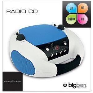 Tragbares CD-Radio CD52 - weiss/blau