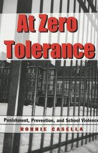 At Zero Tolerance