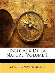 Table Aux De La Nature, Volume 1