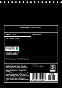 Nymphaeaceae - Teich-Königinnen (Tischkalender 2017 DIN A5 hoch)