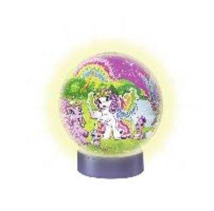 Nachtlicht Filly Welt. 3D Puzzle-Ball 72 Teile