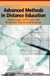 Advanced Methods in Distance Education: Applications and Practic