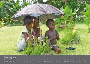Children of Papua New Guinea (UK Version) (Wall Calendar 2016 DI