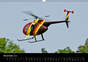 Scale Helicopters / UK-Version (Wall Calendar 2015 DIN A3 Lands