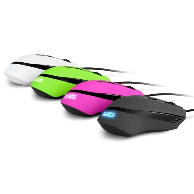 Sharkoon SHARK Force - Gaming Mouse - Weiß - zum Schließen ins Bild klicken