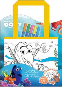 Disney Finding Dory Shopping Bag zum Selbstbemalen inkl. 5 Texti