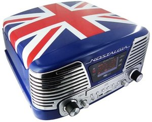 Kompaktanlage mit Plattenspieler TD79II, Union Jack
