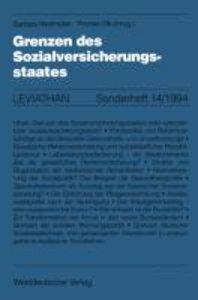 Grenzen des Sozialversicherungsstaates