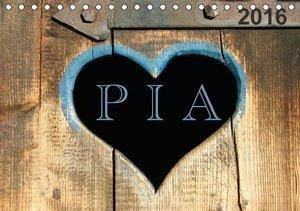 PIA- Namenskalender (Tischkalender 2016 DIN A5 quer)