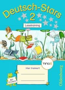 Deutsch-Stars 2. Schuljahr Lesetraining. Ting-Ausgabe