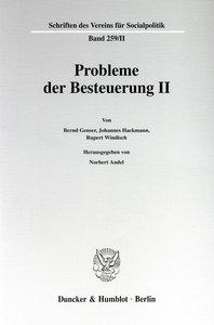 Probleme der Besteuerung II.