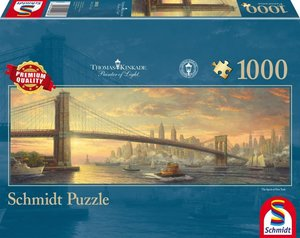 Schmidt Spiele Puzzle Thomas Kinkade Brooklyn Bridge New York 1.