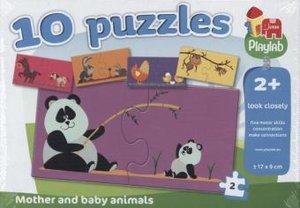 """Playlab Puzzle """"Tiermütter und -kinder"""" 10x2 Teile"""