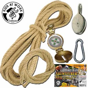 Corvus A750139 - Abenteuer Seil Set, Kinderwerkzeug
