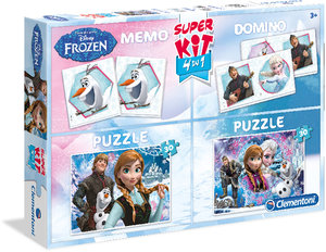 Clementoni Disney FROZEN - Die Eiskönigin Superkit 4-in-1 Memo,