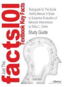 Studyguide for The Social Validity Manual