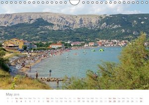 Adriatic Coast Croatia / UK-Version (Wall Calendar 2015 DIN A4 L