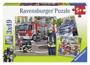 Helfer in der Not. Puzzle 3 X 49 Teile