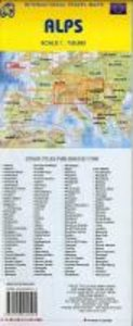 Alps Travel Reference Map 1 : 750 000