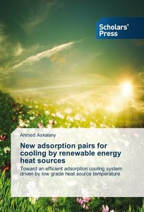 New adsorption pairs for cooling by renewable energy heat source