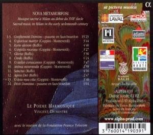 Nova Metamorfosi-Geistliche Musik In Mailand Zu Be