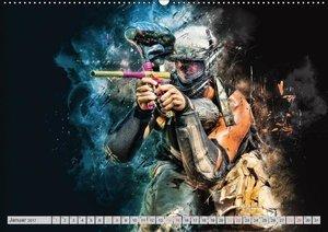 Paintball - extrem cool (Wandkalender 2017 DIN A2 quer)