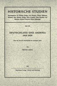 Deutschland und Amerika 1918 - 1929