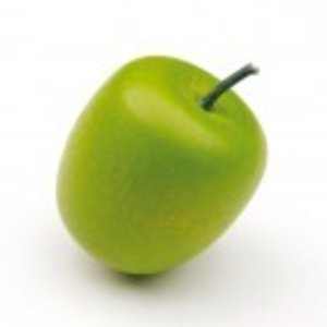 Erzi 11003 - grüner Apfel, aus Holz, 1 Stück