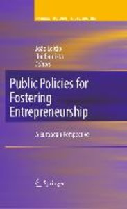 Public Policies for Fostering Entrepreneurship