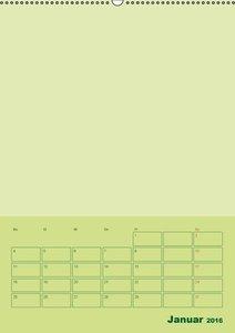 Bastel Terminkalender (Wandkalender 2016 DIN A2 hoch)