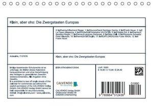 Klein, aber oho: Die Zwergstaaten Europas (Tischkalender 2016 DI