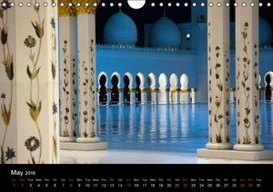 Abu Dhabi - Sheikh Zayed Grand Mosque (Wall Calendar 2016 DIN A4