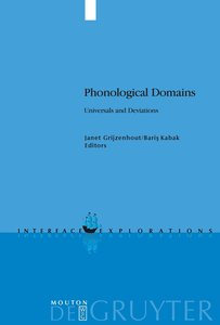 Phonological Domains