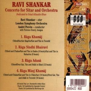 Shankar, R: Concerto For Sitar And Orchestra