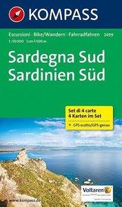 Sardegna Sud - Sardinien Süd 1: 50 000