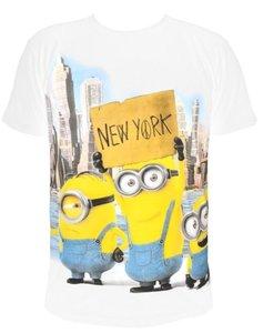 Minions - T-Shirt New York (White) - Größe XL